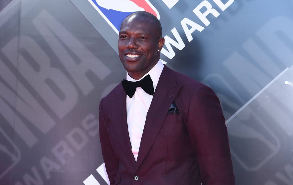 . Terrell Owens arrives at the NBA Awards on Monday, June 25, 2018, at the Barker Hangar in Santa Monica, Calif. (Photo by Richard Shotwell/Invision/AP)
