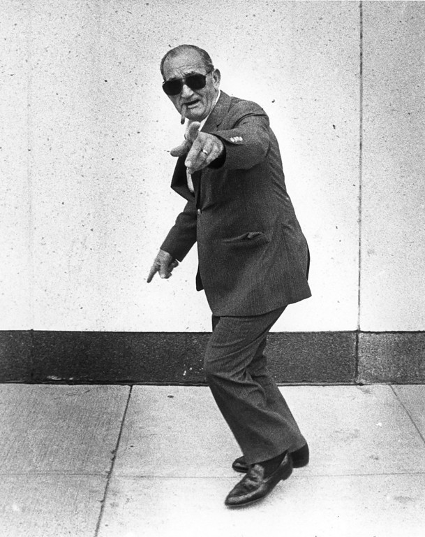 . This photo was taken in 1982.  Eugene (Checkers) Smaldone yells at photographer after a court appearance on gambling charges.    Denver Post Historical Archive