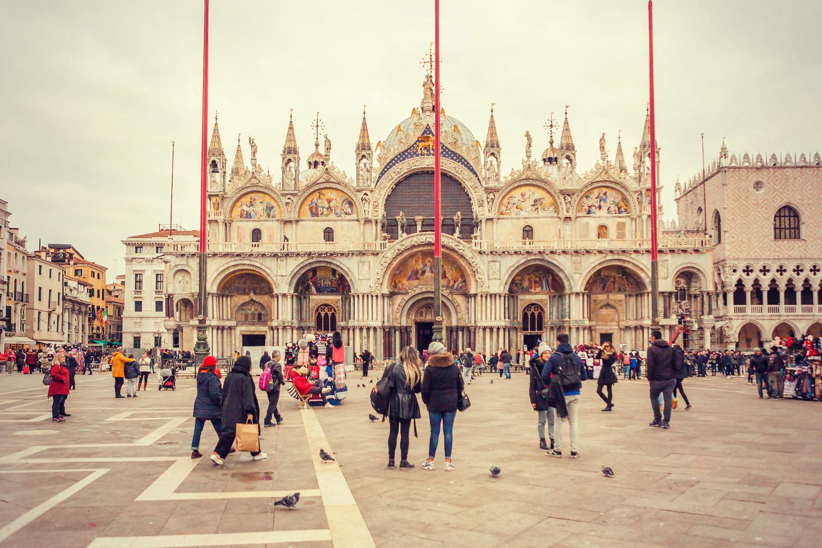 意大利威尼斯圣马可大教堂(St Mark's Basilica), 很出名
