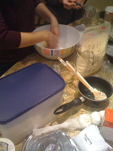 More dough prep.