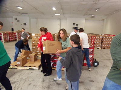 Caravan delivery to Shore Towns after Hurricane Sandy