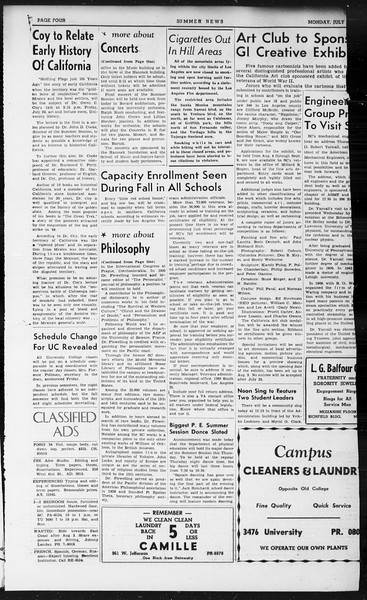 Summer News, Vol. 1, No. 12, July 22, 1946