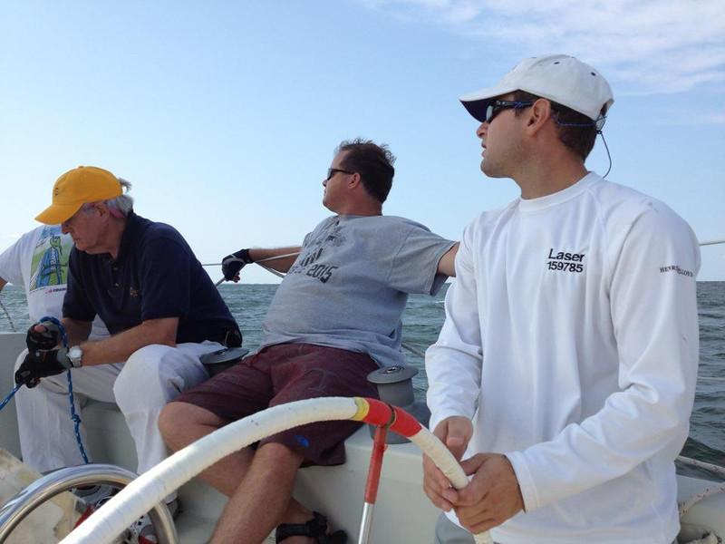 Jon at the helm (photo courtesy of Steve Utley)