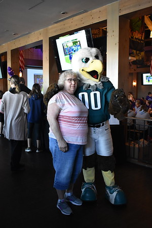 Swoop and the Eagles Cheerleaders