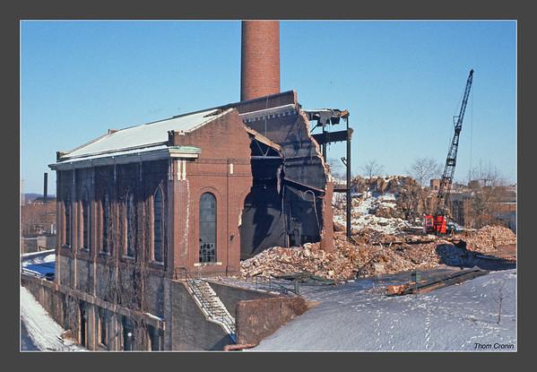 Demolition of the S.U.M steam plant - 1962-63