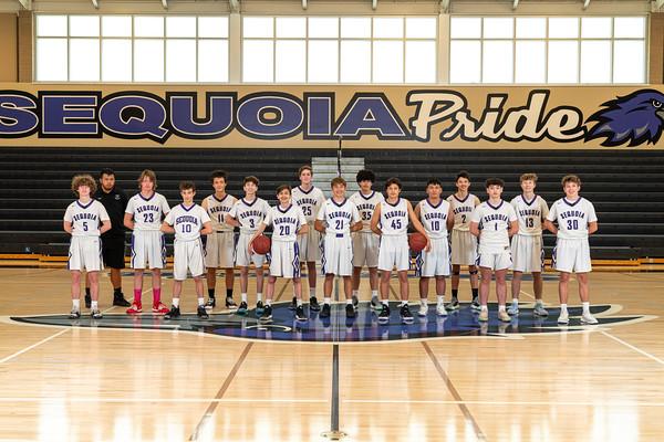 2021 Sequoia JV Basketball Team Photo