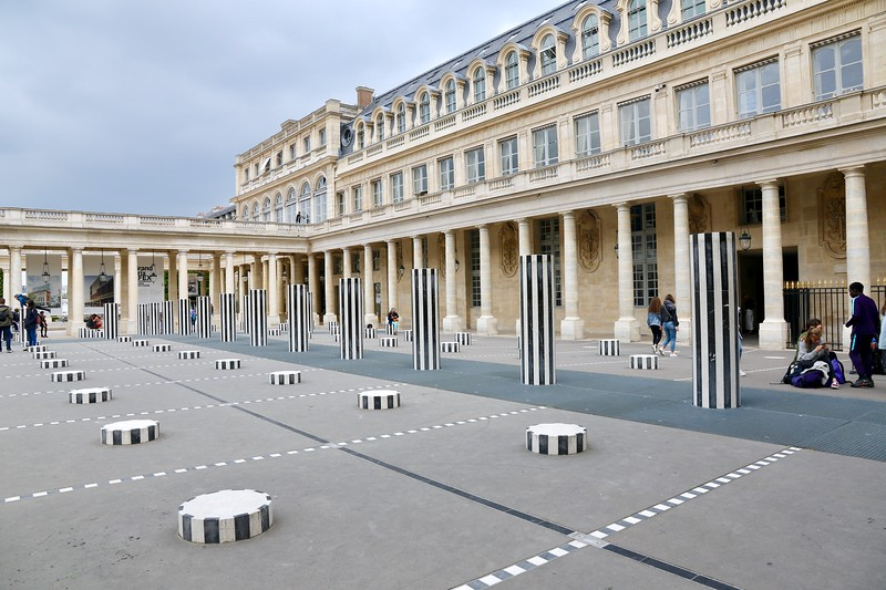 Les Deux Plateaux, more commonly known as the Colonnes de Buren, is a highly controversial art installation created by the French artist Daniel Buren in 1985. It is located in the inner courtyard of the Palais Royal. I loved it!