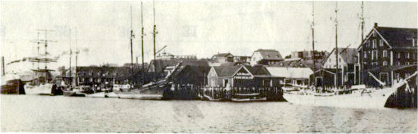 Yarmouth waterfront. The Foote family spent about 100 years in Nova Scotia before Zachariah's great-grandson William H., his wife Mary and family came back to the Boston/Cambridge area from Yarmouth, Nova Scotia, Canada.