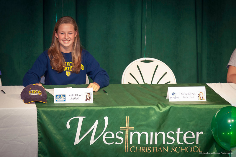 Westminster Scholarship Signing Day (Kleis)