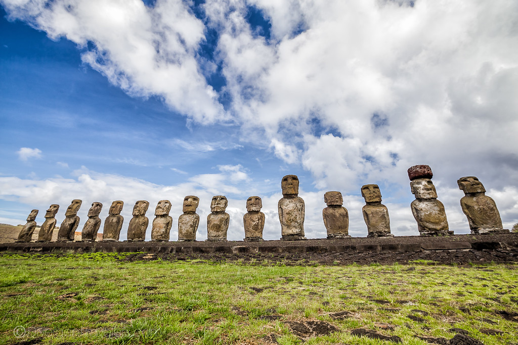 Rapa Nui National Park Easter Island - Tongariki - Lina Stock