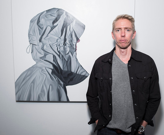 Artist Karel Funk poses for a portrait following a press conference at the Winnipeg Art Gallery Thursday June 9, 2016 to announce the opening of a gallery of his work. (David Lipnowski for Metro News)