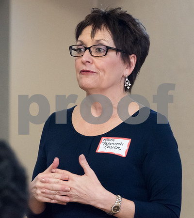 03/15/18 Wesley Bunnell | Staff Candidate for Secretary of the State Karen Talamelli Cusick speaks at the Pulaski Club on Thursday evening as she along with other Democratic candidates for state office met with the Democratic Town Committee as well as New Britain residents.