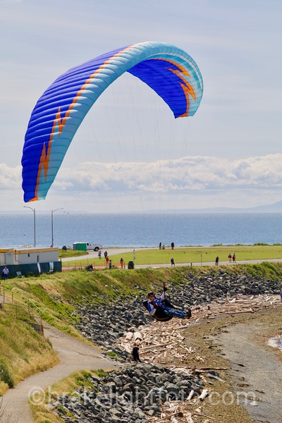 Paragliding on the Dallas Rd Waterfront
