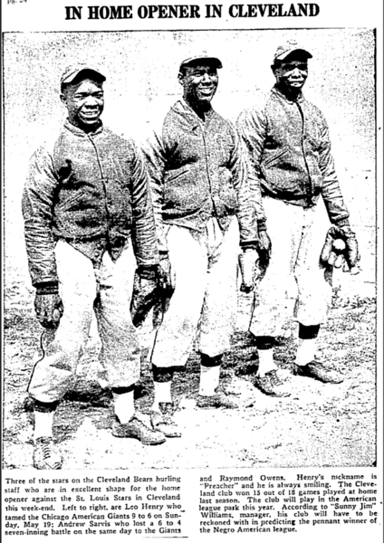 Cleveland Bears, Chicago Defender, May 25, 1940, p 24.png