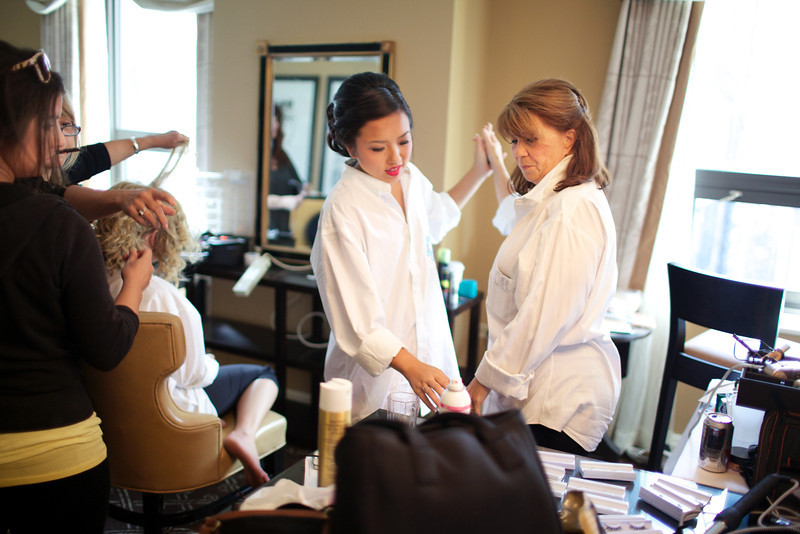 Le Cape Weddings - Chicago Cultural Center Weddings - Kaylin and John - 03 Bridesmaids Getting Ready 48