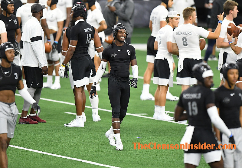 Defensive back Fred Davis works out during The Opening at the Dallas Cowboy's training facility Ford Center in Frisco, TX Monday, July 1, 2019. Bart Boatwright/The Clemson Insider
