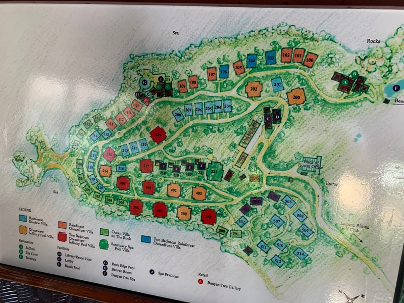 Banyan Tree Bintan Map