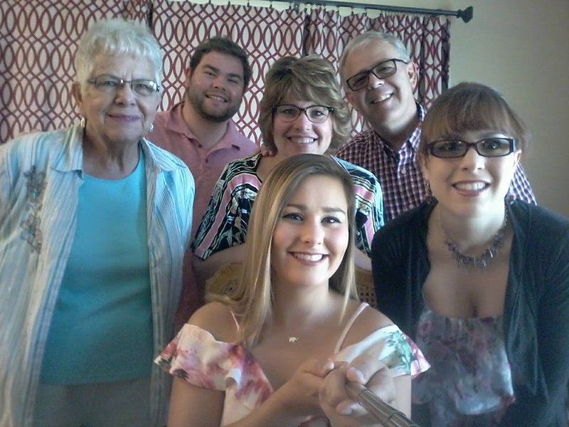 Celebrating Elizabeth's 21st birthday with the Biaglow family in Wapakoneta, OH - August 27, 2017