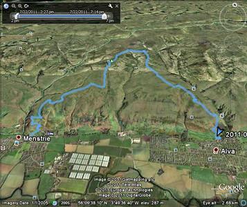 Walking in the Ochils - Colsnaur - Bengengie - Wee Tory 22/07/2011