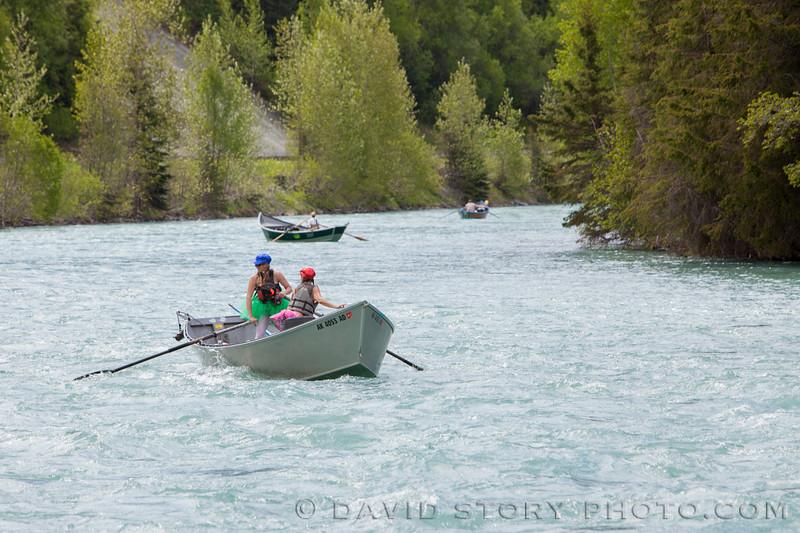 Competition is fierce in the Kenai River Driftboat Regatta even for last place.