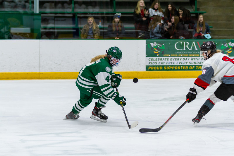 Holy Family's Cecily Cronin '20 (4) vs. Eden Prairie at Braemar Arena - Collin Nawrocki/The Phoenix