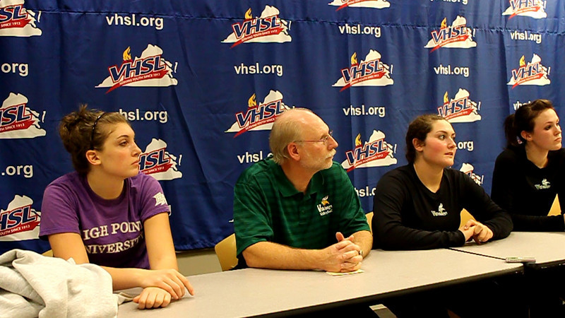 Volleyball VHSL Semi Press 3.mov