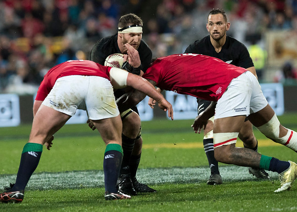 Kieran Read (c)  during game 9 of the British and Irish Lions 2017 Tour of New Zealand, the second Test match between  The All Blacks and British and Irish Lions, Westpac Stadium, Wellington, Saturday 1st July 2017 (Photo by Kevin Booth Steve Haag Sports)  Images for social media must have consent from Steve Haag