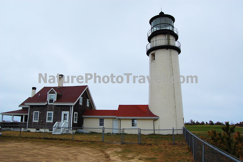 The Cape Cod Highland Lighthouse is a working lighthouse on the Cape Cod National Seashore in Truro, Massachusetts. In 1797, a station authorized by George Washington was established at this point on the Cape, with a wood lighthouse to warn ships about the dangerous coastline between Cape Ann and Nantucket. It was the first light on Cape Cod. <br /> <br /> The present location of the lighthouse is not the original site. It was in danger of falling down the cliff due to beach erosion, so the structure was moved 450 feet to the west.