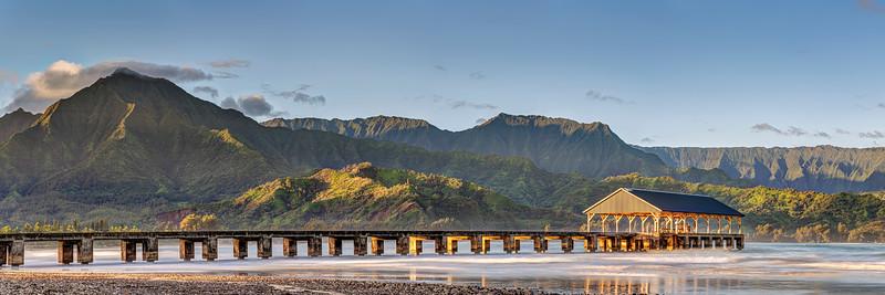 Hanalei Pier Panorama