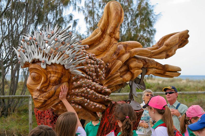Minneta, by Carlos Sanchez - SWELL Sculpture Festival, Currumbin,  http://www.swellsculpture.com.au/  17 September, 2008