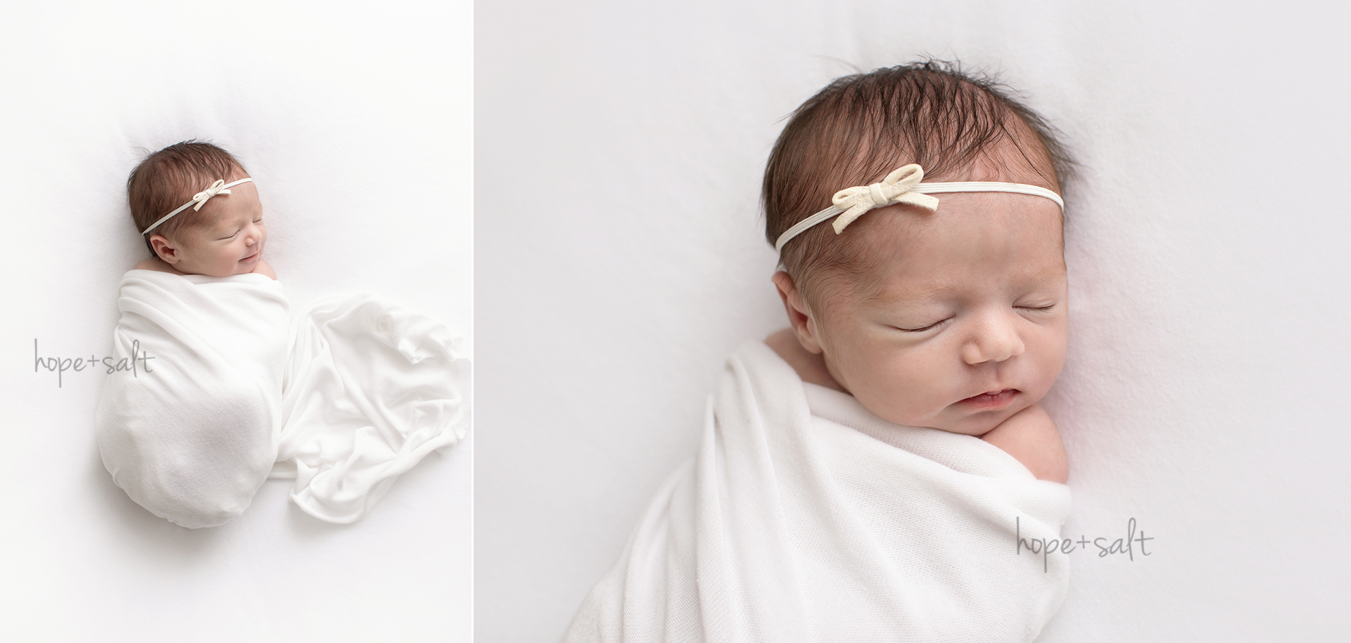 Hamilton ontario newborn photographer - studio session for baby girl Charlotte and family simple natural neutrals by Hope + Salt