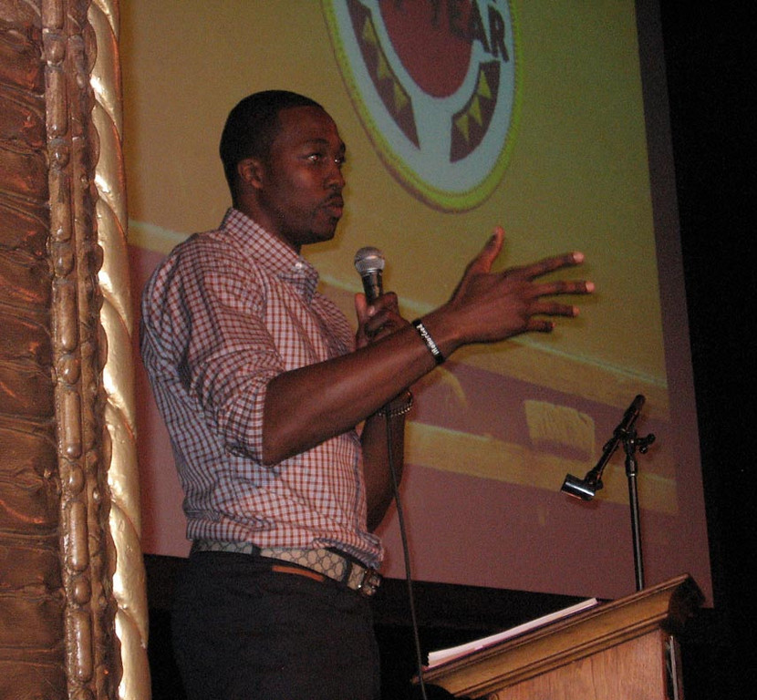 . Los Angeles Lakers center Dwight Howard was the surprise guest speaker at the Friday, May 31, 2013 graduation of 275 CityYear corps members who help at inner city schools.