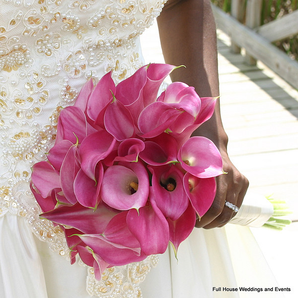 Bouquet - Pink Mini Calla Lilies