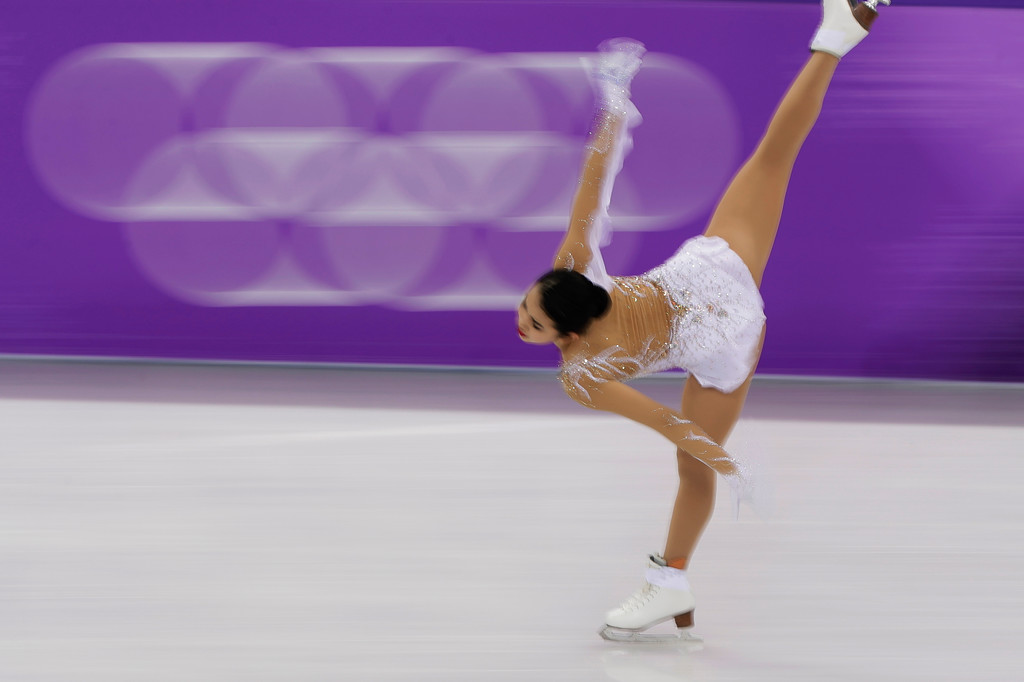 . Karen Chen of the United States performs during the women\'s short program figure skating in the Gangneung Ice Arena at the 2018 Winter Olympics in Gangneung, South Korea, Wednesday, Feb. 21, 2018. (AP Photo/Julie Jacobson)