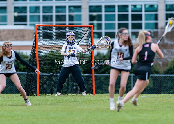 Broughton girls varsity lacrosse vs Middle Creek. February 28, 2020. D4S_0344