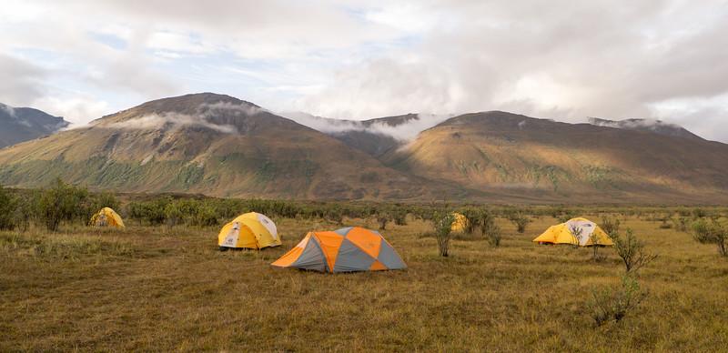 Camp at Pingo Lake