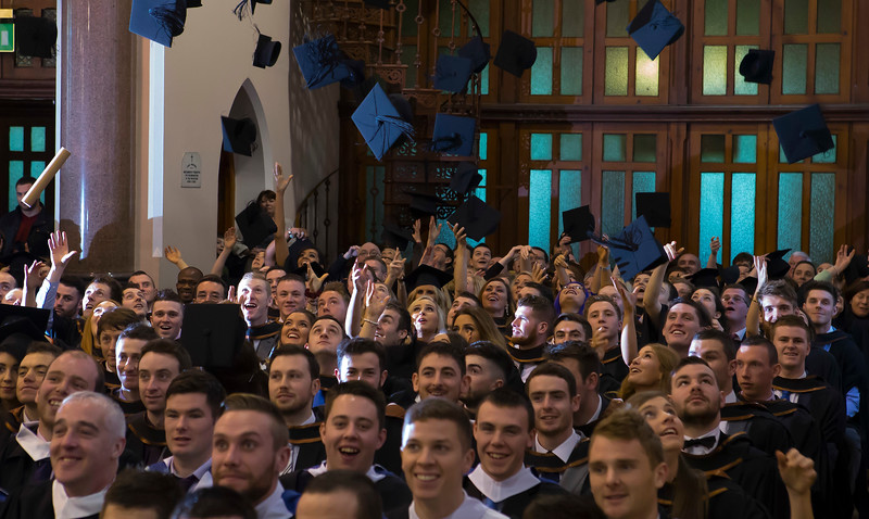 06/01/2015. FREE TO USE IMAGE. WIT (Waterford Institute of Technology) Conferring, Pictured are students who graduated includes Bachelor of Arts in Health Sport and Exercise Science and Postgraduate Business. Picture: Patrick Browne