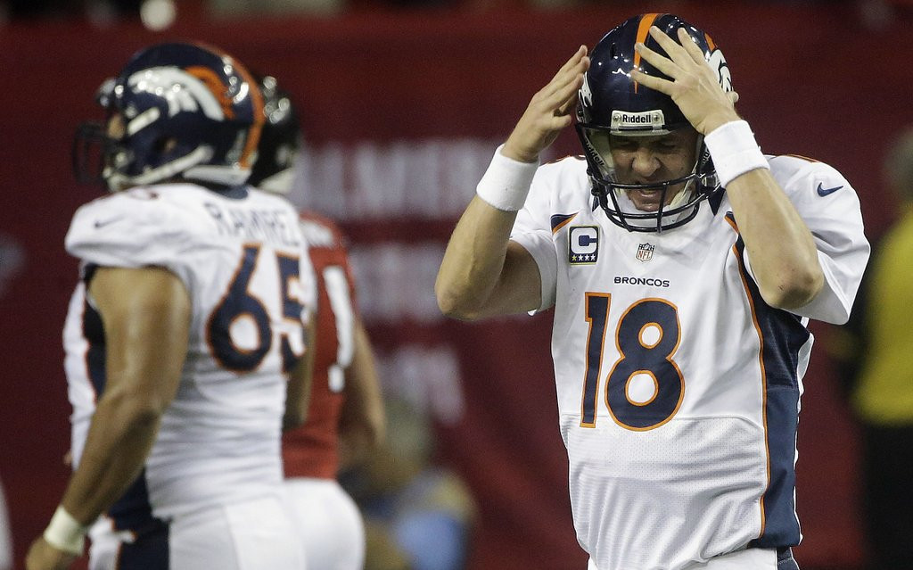 ". <p><b>DENVER BRONCOS</b> <p><i>�PEYTON�S PLACE�</i> <p>The Broncos were hellbound for glory <p>Then their Mile High dreams quickly broke <p>Seems Manning brought with him from Indy <p>His knack for the postseason choke <p><b><a href=\'http://espn.go.com/nfl/playoffs/2012/story/_/id/8839423/nfl-playoffs-peyton-manning-denver-broncos-choked-historic-fashion-baltimore-ravens\' target=""_blank\""> HUH?</a></b> <p>   (AP Photo/John Bazemore)"