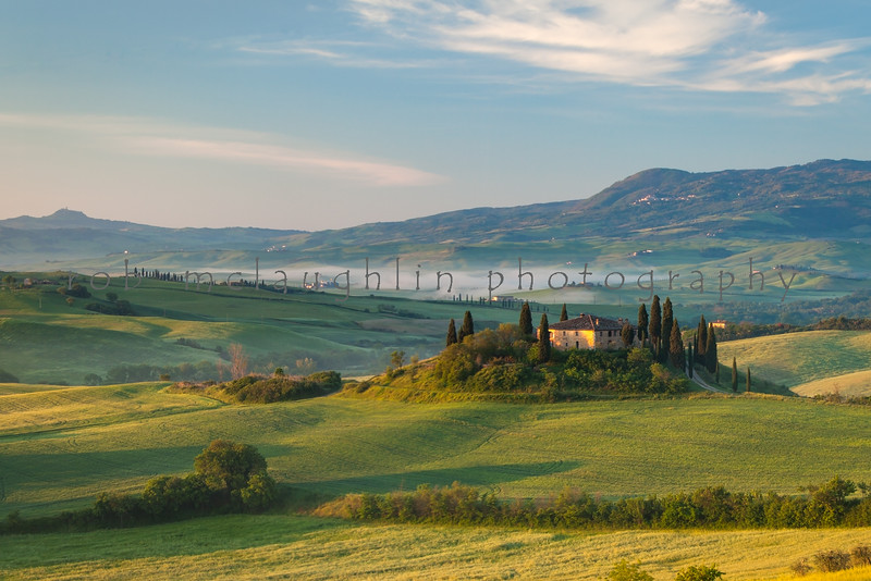Belvedere Dawn , San Quirico d'Orcia , Tuscany