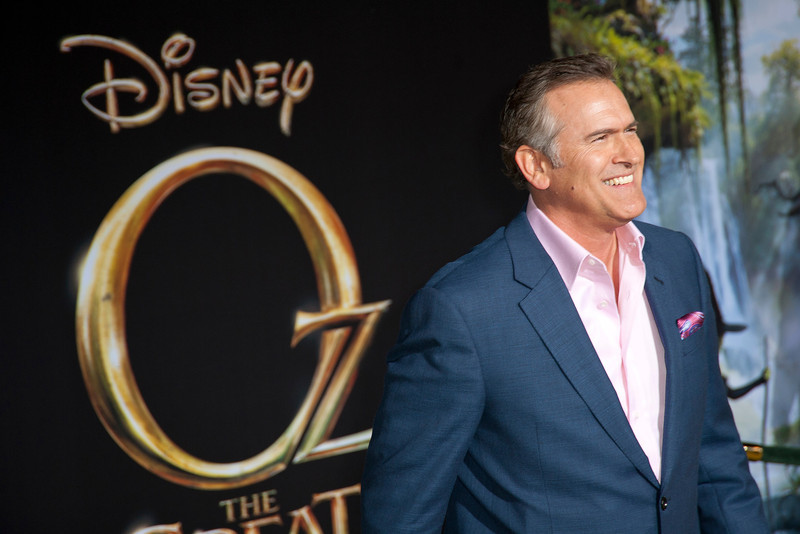 HOLLYWOOD; CA - FEBRUARY 13: Actor Bruce Campbell arrives at the world premiere of Walt Disney Pictures' 'Oz The Great And Powerful' at the El Capitan Theatre on Wednesday February 13; 2013 in Hollywood; California. (Photo by Tom Sorensen/Moovieboy Pictures)