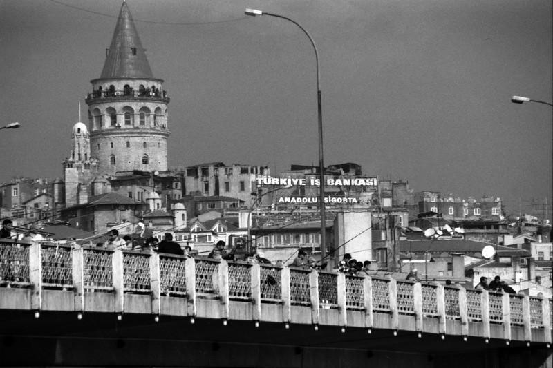 Fishing on Bridge - Istanbul, Turkey