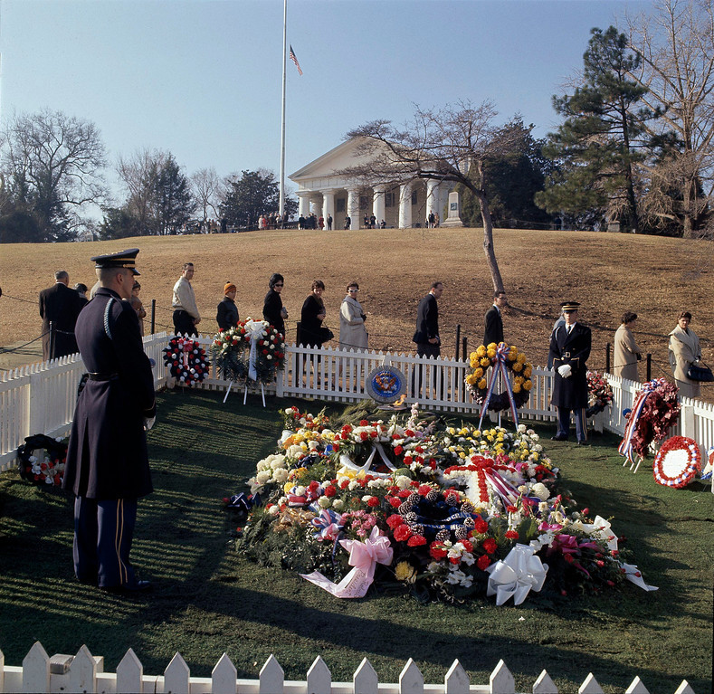 . Mourners file past Kennedy\'s grave on Nov. 27, 1963. Associated Press file