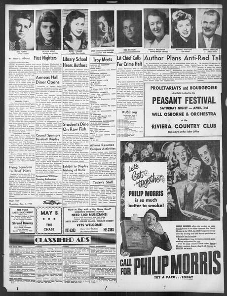 Daily Trojan, Vol. 39, No. 109, April 01, 1948