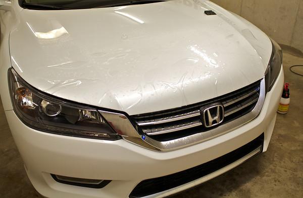2013 White Honda Accord