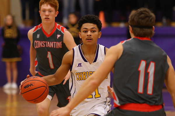 Basketball Boys Varsity vs. Constantine - KCHS - 12/15/17