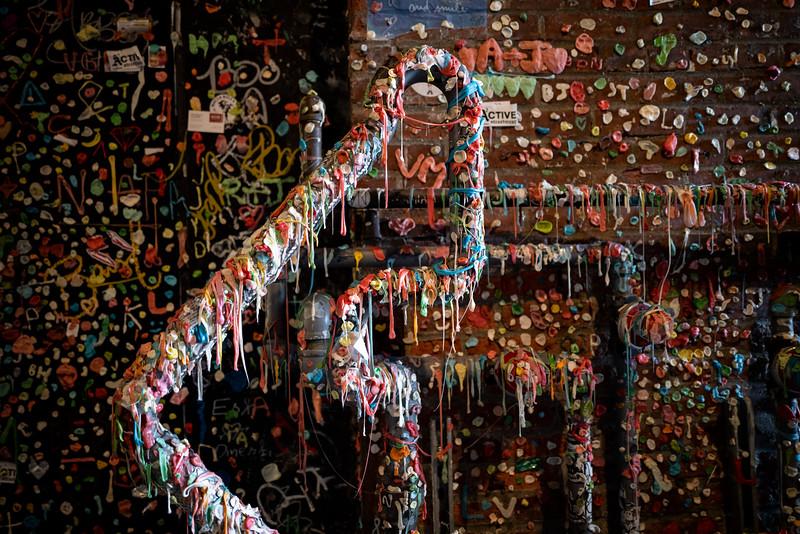 Gum Wall near Seattle's Pike Place Market
