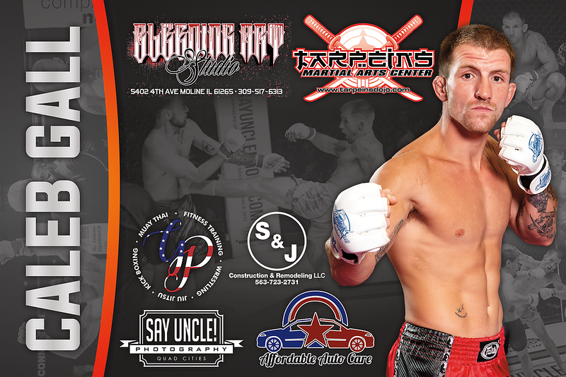 Fight Sponsorship Banner For Caleb Gall