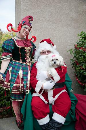 Mia with Santa 2010