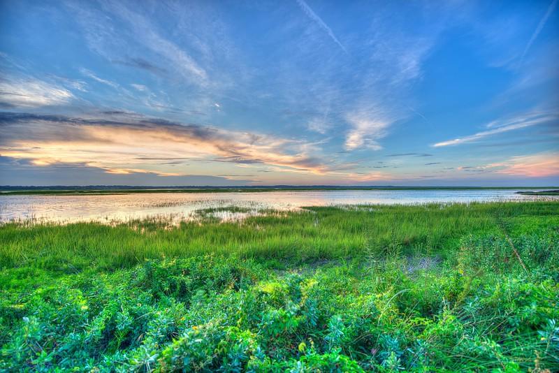 Sea Island Marsh Sunset