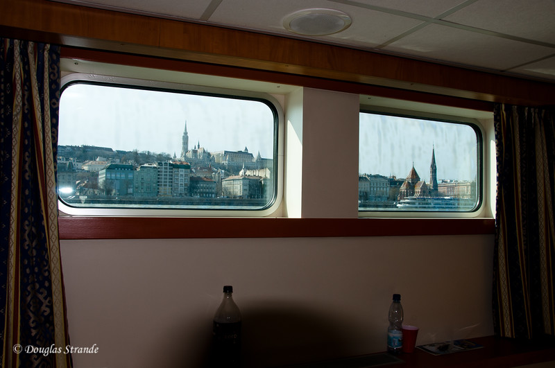 Views from our cabin of the Buda skyline